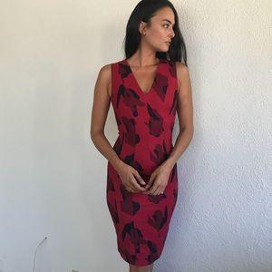 Paneled Red Camo dress